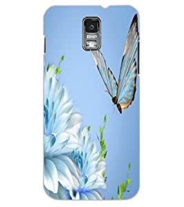 ColourCraft Beautiful Butterfly Design Back Case Cover for SAMSUNG GALAXY S5 NEO