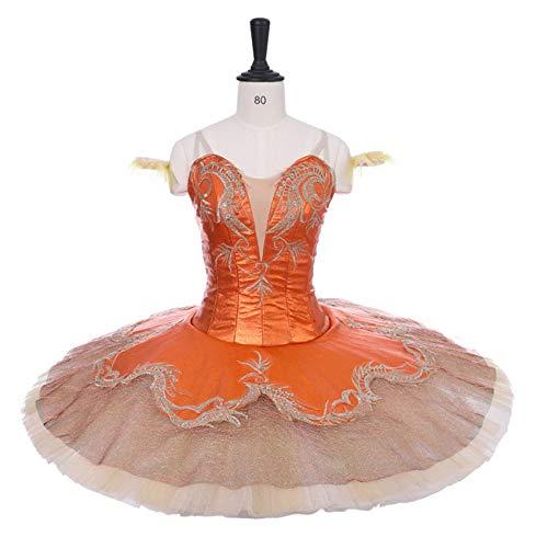 QSEFT Klassische Professionelle Ballett Nussknacker Tutu Orange Farbe -