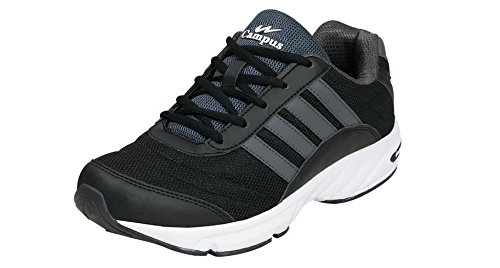 Campus ANTRO-3 Men Grey & Black Sport Shoes Size- 7