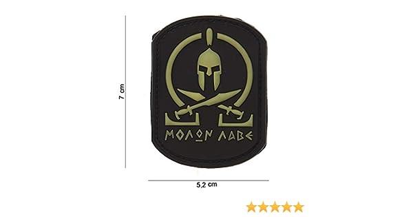Molon Labe Spartan SWAT schwarz gelb Softair Sniper PVC Patch Logo Klett