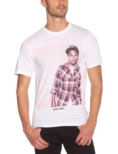 Eleven Paris Herren T-Shirt Opaque, Crew Weiß - Weiß