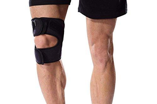 Bonmedico® Genuo, rodillera ajustable para correr, deportes y cualquier entrenamiento físico. Permite la estabilización activa de ligamentos cruzados, meniscos, rótula y mucho más, adecuado para hombres y mujeres, ambilateral, elástico, transpirable y ant