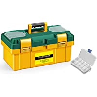 Cassetta degli attrezzi Caja de herramientas Caja de almacenamiento de herramientas de reparación de herramientas de plástico portátil grande Caja de almacenamiento de herramientas de plástico Caja de
