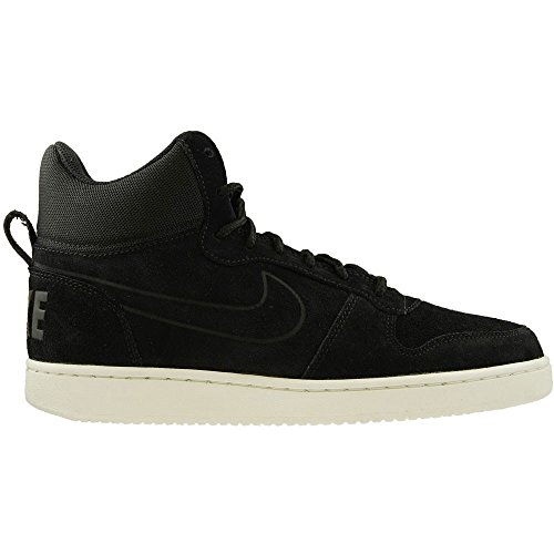 Nike Court Borough Mid Premium, Baskets Hautes Homme Noir
