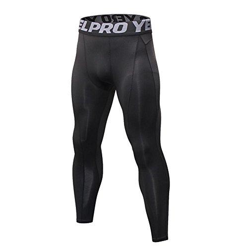Yalatan Men's Compression Baselayer Hose Quick Dry Sports Fitness Schweiß und Atmungsaktive Tights (Strumpfhosen Antimikrobielle)
