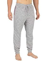 Lacoste Hombre Parte Inferior de Pijama a Rayas, Gris