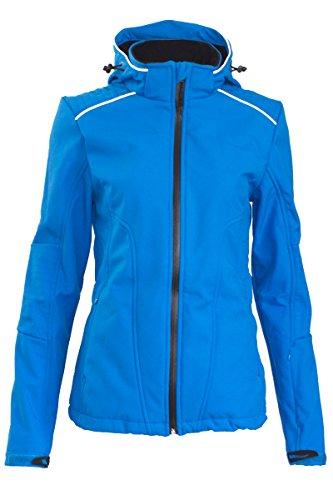 Crivit Damen Softshell Skijacke Snowboardjacke Winterjacke Wintersport Jacke Blau S (36/38)