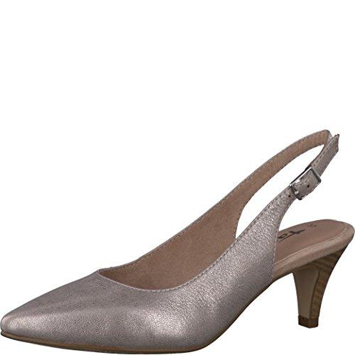 Tamaris Schuhe 1-1-29607-38 bequeme Damen Sling, Sommerschuhe für modebewusste Frau, metallic (ROSE METALLIC), EU 40