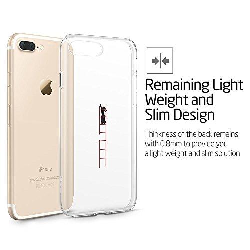 iPhone 7 Plus Hülle (5,5 Zoll), ESR® Mania Series Transparent Weiche Silikon Hülle Muster TPU Bumper Case Schutzhülle für iPhone 7 Plus (Hase) Schneemann