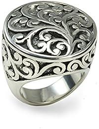Metal de Seda Ultralite de filigrana de plata esterlina Anillo entrega en una caja de regalo encantadora