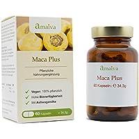 Maca Plus Kapseln mit L-Arginin + Ashwaganda + Tribulus-terrestris + Zink (vegan - freiverkäuflich, Hergestellt... preisvergleich bei billige-tabletten.eu