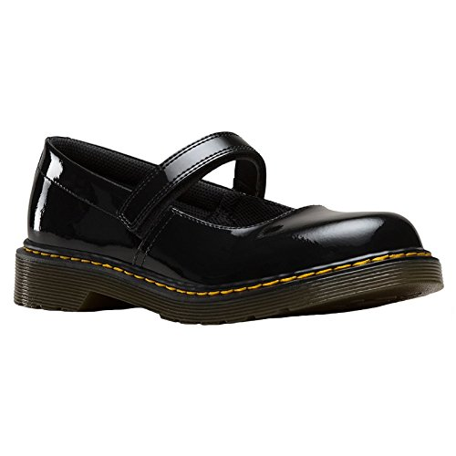Dr. Martens Youth Maccy Black Leather Shoes 38.5 EU