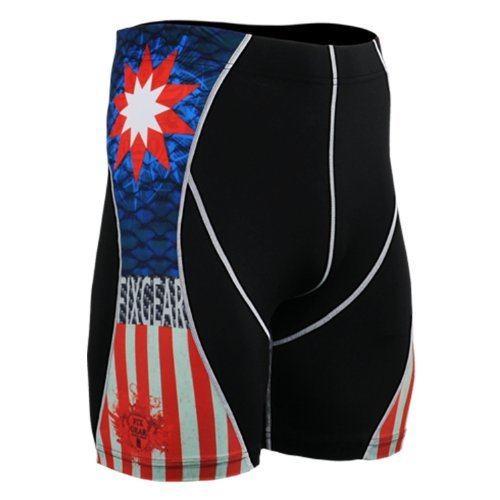 Fixgear Mens Womens Spandex Base Layer Running Compression Base Layer Shorts S ~ ~ 4XL