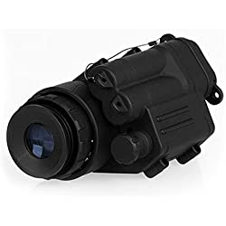 Dispositivo monocular de Visor de visión Nocturna Gafas de visión Nocturna a Prueba de Agua Iluminación Digital por Infrarrojos PVS-14 para Casco - Negro - 1 Tamaño