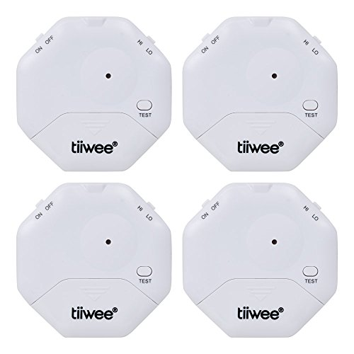 tiiwee Alarma Anti Rotura de Cristales   Ventanas seguras   Protección contra robo para Ventanas   Alarma de Casa   Juego de 4