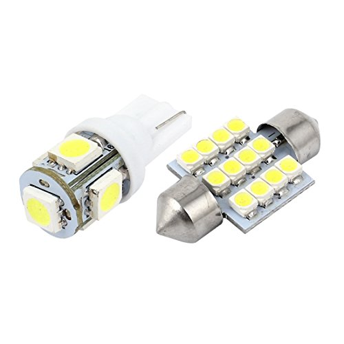 andkarten Weiß LED Beleuchtung Innenraum Paket Kit 15 Stück (2005 Acura Tl)