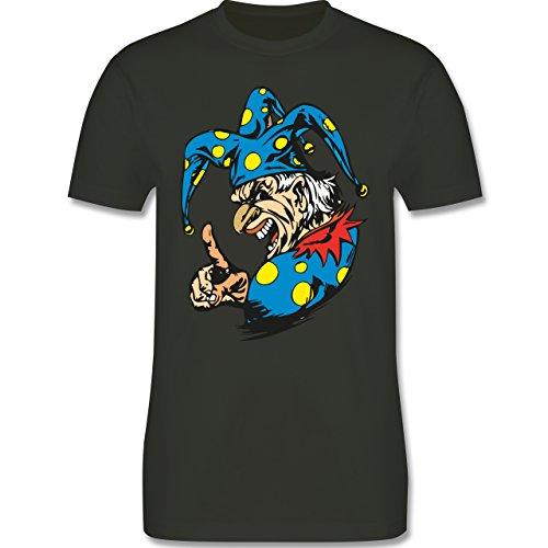 Karneval & Fasching - Clown - Grimasse - Herren Premium T-Shirt Army Grün