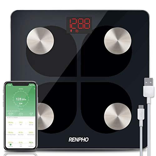 La marca RENPHO está dedicada y dedicada al diseño, desarrollo y venta de básculas digitales.    Especificaciones:  Capacidad: 396 lb / 180 kg  División: 0.2lb / 50g  Unidades: kg / lb (Switch units through APP)  Características: encendido / apagado...