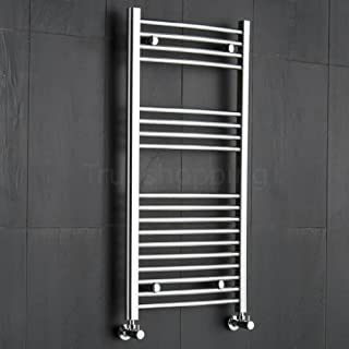 Premium Kudox Chrome Curved Heated Towel Radiator Rad Rail 1000x500mm Bathroom