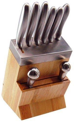Tarrerias Bonjean 418814 -Bloc Bois-Metal + Hachoir inox 5 Couteaux de cuisine , 1 Fusil, 1 Hachoir Inox trempé