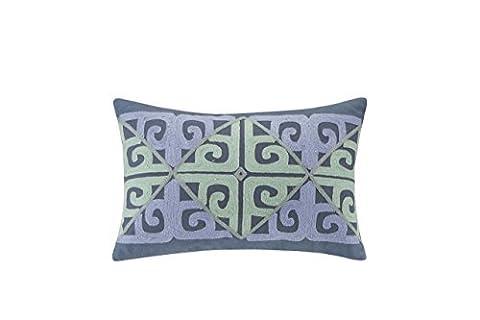 Echo Design Kamala Oblong Pillow, 12 x 18, Blue/Aqua by ECHO