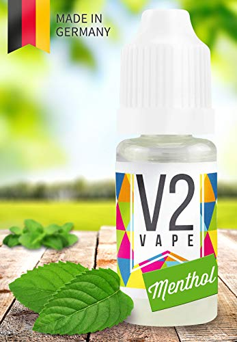 V2 Vape E-Liquid Menthol gebrauchsfertig - Made in DE 0mg nikotinfrei - 10ml