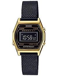 39f1afdc8128 Casio LA690WEMB-1B - Reloj Digital con cronógrafo y Correa de Malla Negra  para Mujer