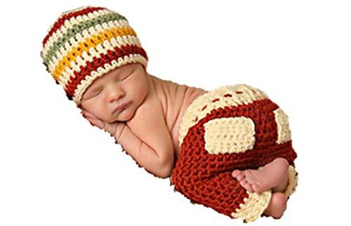 Matissa Neugeborenes Baby Mädchen/Jungen häkeln Stricken Kostüm Fotografie Prop Outfits (Schläfrig Santa Helfer) (Kinder Santa's Helfer Kostüm)