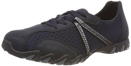 Rieker Damen 49020 Sneaker, Blau (Pazifik/Altsilber), 39 EU