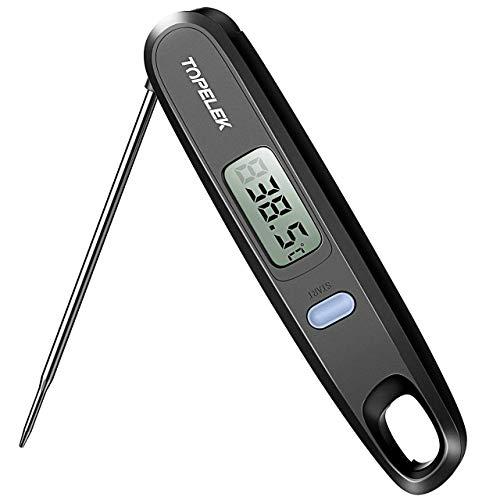 Habor Fleischthermometer Grillthermometer KücheThermometer Digital Thermometer, Einfach zu lesender Bildschirm, 4.8 Zoll Lange Edelstahl Sonde Ideal für BBQ Milch Küche Grill, Kunststoff