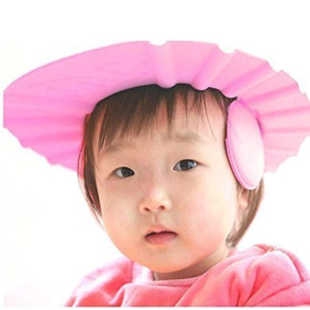 Zollyss New Adjustable Safe Soft Bathing Baby Shower Cap Wash Hair For Children - Multi Color