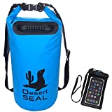 Desert Seal 20L Blue Dry Bag with Waterproof Phone Case, Premium tough lightweight