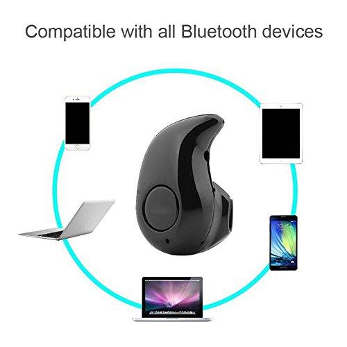 Amison Praktisch Unisex Mini Ultra-kleine S530 4.0 Stereo Bluetooth Headset Kopfhörer Ohrhörer (Khaki)