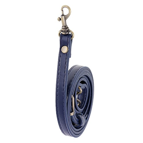 perfk Verstellbar Taschenbügel Taschenhenkel Taschengriffe Schultergurt Lederriemen Umhängetasche Band - blau