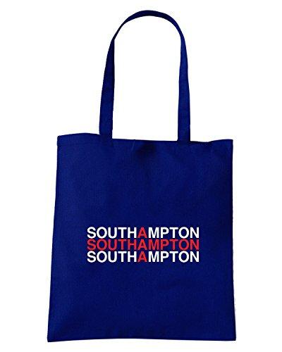 T-Shirtshock - Borsa Shopping WC0562 SOUTHAMPTON Blu Navy