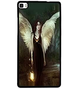 ColourCraft Angel Design Back Case Cover for HUAWEI P8