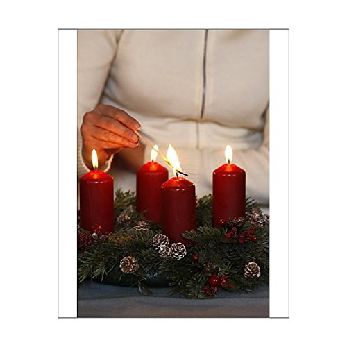 10x8-Print-of-Woman-lighting-advent-candles-Saint-Nicolas-de-Veroce-Haute-Savoie-France-4261251