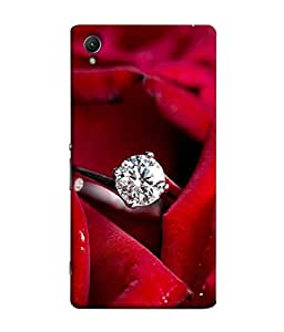 PrintVisa Designer Back Case Cover for Sony Xperia Z5 (diamond ring covered red rosses)