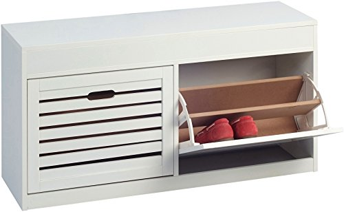 HomeTrends4You 803126 Schuhschrank, 97 x 50 x 30 cm, weiß matt Lackiert