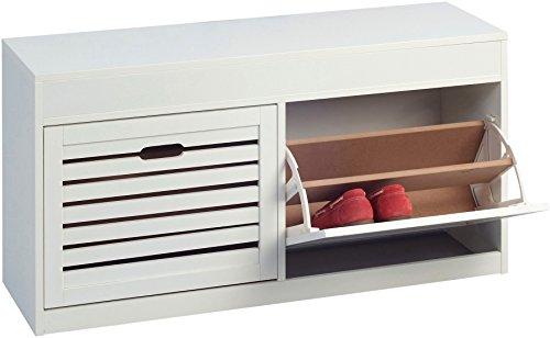 garderobe baum ikea HomeTrends4You 803126 Schuhschrank, 97 x 50 x 30 cm, weiß matt Lackiert