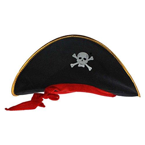 op Maskerade Partys Mütze Gewebe-Tuchmaterial Schädel-Muster Piraten-Kapitän Kostüm Rolle (Schädel Halloween-prop)
