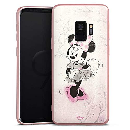 Silikon Hülle Case Schutzhülle kompatibel mit Samsung Galaxy S9 Disney Minnie Mouse Merchandise Geschenke