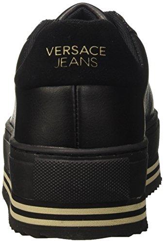 Versace Jeans Ee0vqbsf1_e75440, Sneaker a Collo Basso Donna Nero
