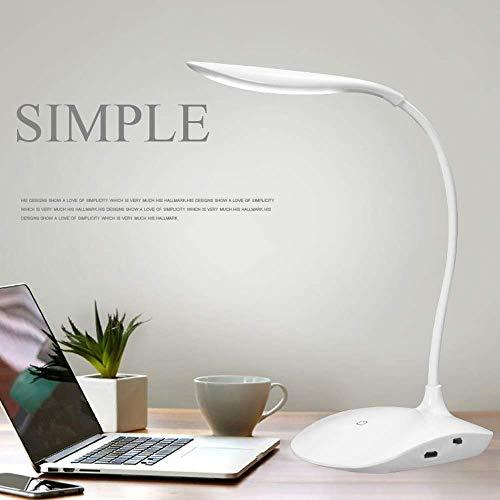 Azacus Table lamp Shadeless Fashion Flexible Neck LED Reading Eye Protection Study Desk Lamp Brightness Switch Dimmer LED Table Lamp