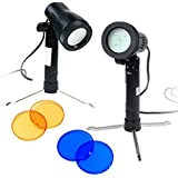 LimoStudio Photography Continuous 600 Lumen LED Light Set For Table Top Studio Portable Lighting Kit With Gel Filters, LIWA27