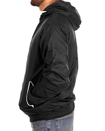 Urban Classics Herren Jacke Bekleidung Contrast Windrunner Black