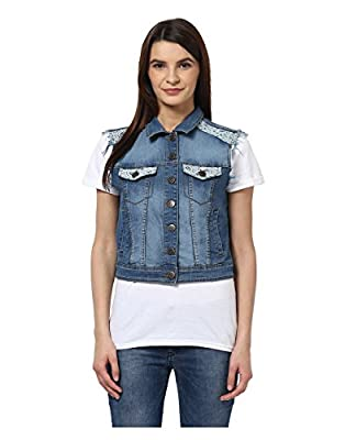 Yepme Women's Cotton Denim Jackets - YPMJACKT5088-$P