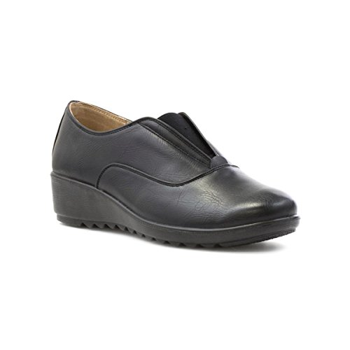 Cushion Walk Womens Black Slip On Comfort Shoe - Size 6 UK...
