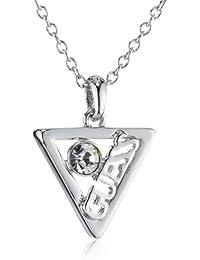 Guess Damen Halskette Iconically Guess Edelstahl Kristall rhodiniert 40 cm UBN71317