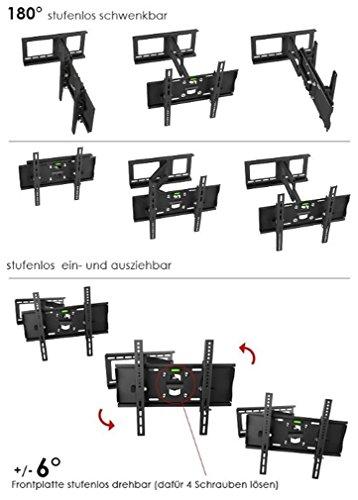 preisvergleich ricoo wandhalterung tv schwenkbar neigbar r23 willbilliger. Black Bedroom Furniture Sets. Home Design Ideas